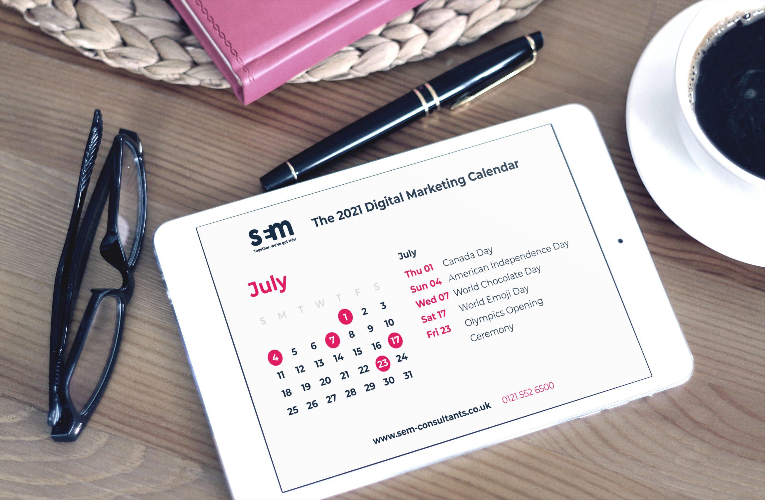 2021 digital marketing calendar