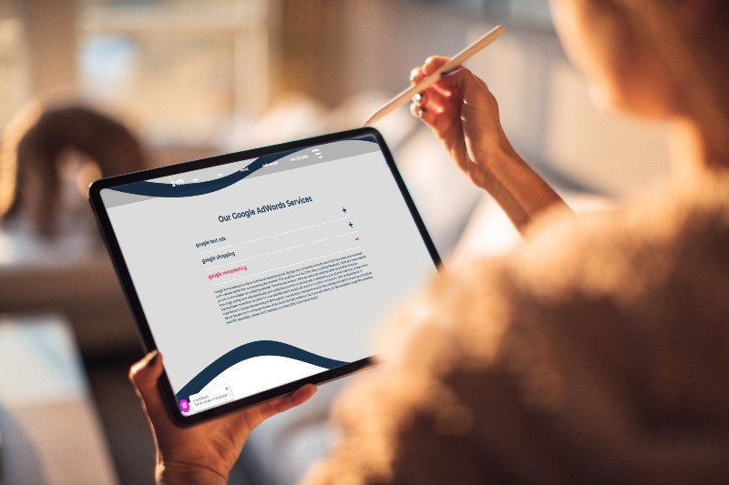 google remarketing tablet display